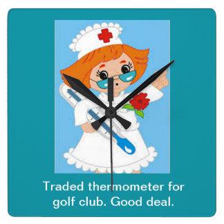 Relógio Quadrado Termômetro trocado para o clube de golfe - bom