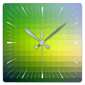 Relógio Quadrado teste padrão 10 da cor