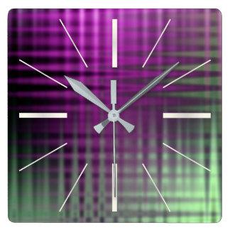 Relógio Quadrado teste padrão 1 da cor