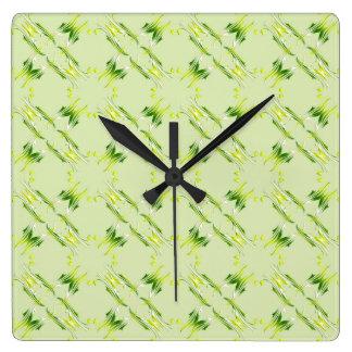 Relógio Quadrado Teste padrão barroco do limão do estilo