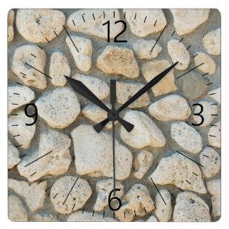 Relógio Quadrado Teste padrão do seixo