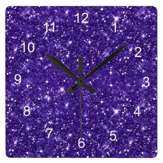 Relógio Quadrado Teste padrão roxo ID144 do brilho