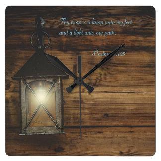 Relógio Quadrado Thy palavra é uma lâmpada
