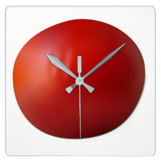 Relógio Quadrado Tomate
