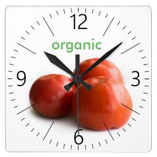 Relógio Quadrado Tomate maduro