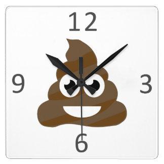 Relógio Quadrado Tombadilho bonito engraçado Emoji