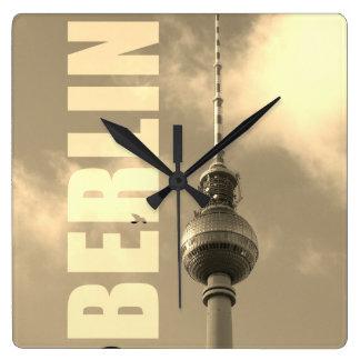 Relógio Quadrado Torre 002.F.002.3 da tevê de BERLIM
