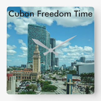 Relógio Quadrado Torre cubana da liberdade em Miami