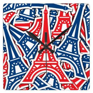Relógio Quadrado Torre Eiffel, teste padrão de France
