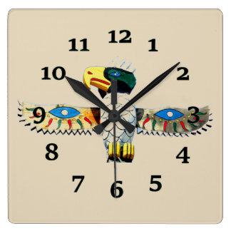 Relógio Quadrado Totem do nativo americano