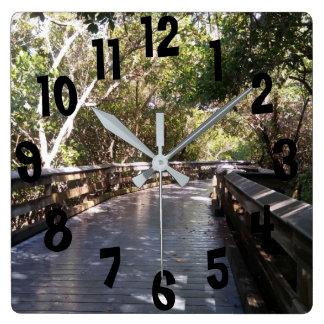 Relógio Quadrado Trajeto Nápoles da caminhada da natureza do