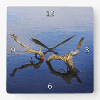 Relógio Quadrado Tranquilidade da borda dos lagos