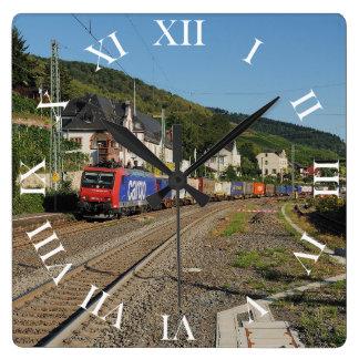 Relógio Quadrado Trem de carga em Lorch à reno