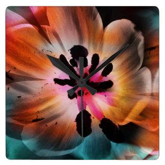 Relógio Quadrado Tulip