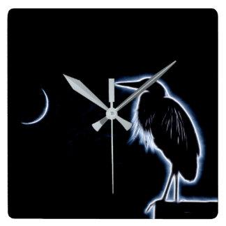 Relógio Quadrado Um fundo azul elétrico do azul da