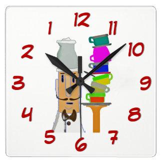 Relógio Quadrado Um mais copo - gire para trás o tempo cronometram