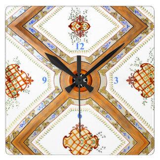 Relógio Quadrado Um teto de vidro