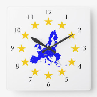 Relógio Quadrado União européia