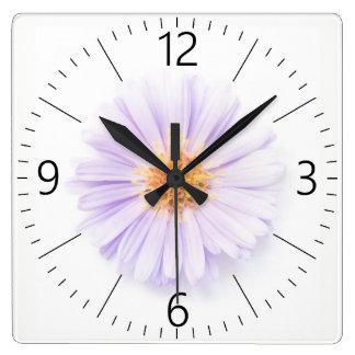 Relógio Quadrado Única flor da elegância