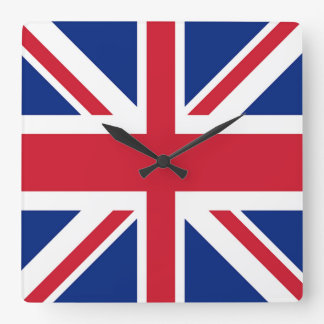 Relógio Quadrado Union Jack - bandeira do Reino Unido