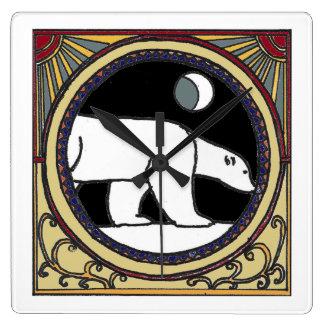 Relógio Quadrado Urso polar de Nouveau