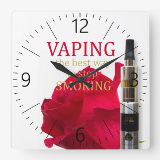 Relógio Quadrado Vaping é a melhor maneira de parar de fumar