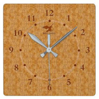 Relógio Quadrado Venda moderna decorativa de madeira clara do pulso
