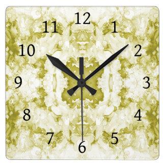 Relógio Quadrado Verde do abstrato 20
