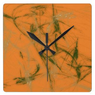 Relógio Quadrado Verde - esfrie