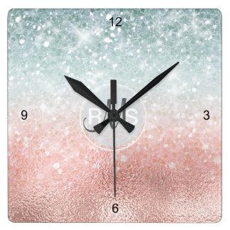 Relógio Quadrado Vidro combinado ID434 do inclinação do brilho