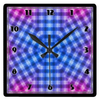 Relógio Quadrado Xadrez