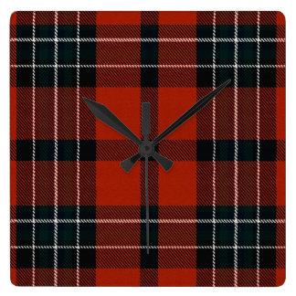 Relógio Quadrado Xadrez de Ailsh do Loch