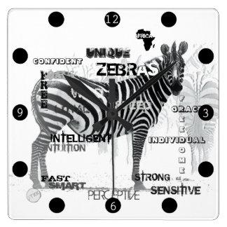 Relógio Quadrado Zebras originais