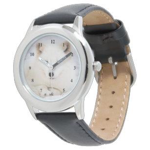 a6486b3ae62 Relógio Raposa polar ártica bonito branca na neve