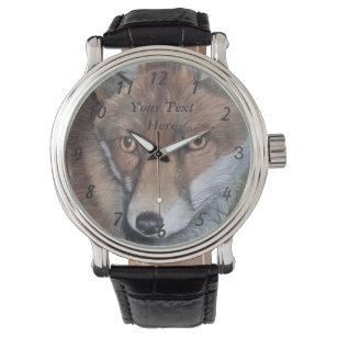 9ee378a20c8 Relógio raposa vermelha que pinta animais selvagens legal