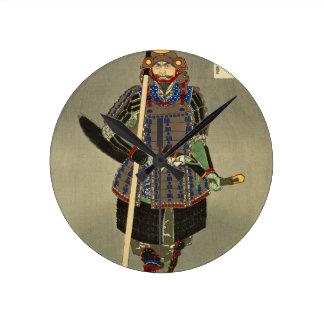 Relógio Redondo 山中幸盛 de Yukimori do guerreiro do samurai - 月岡芳年 de