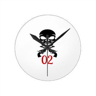 Relógio Redondo 02 designs do aniversário