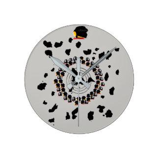 Relógio Redondo (#1A) MAPA do FE de GLOBEXIT (cinzento) (Med.Sm.