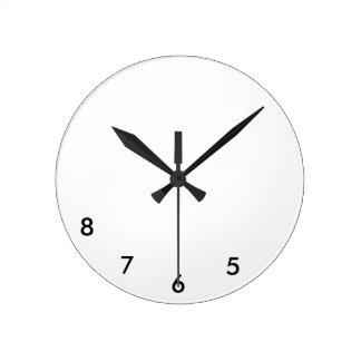 Relógio Redondo 5, 6, 7, pulso de disparo de parede 8 para