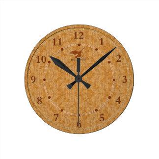 Relógio Redondo 5 decorativos de madeira claros uma venda moderna