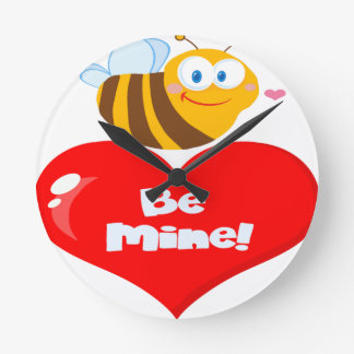 Relógio Redondo A abelha bonito que guardara dizer do coração seja