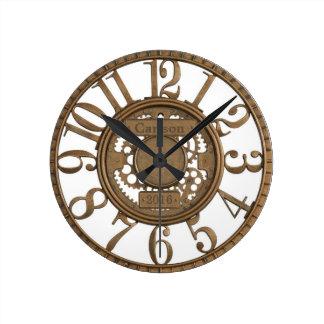 Relógio Redondo A aberto-engrenagem do metal do falso projeta