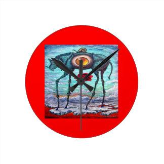 Relógio Redondo A beleza VERMELHA está no olho do Espectador
