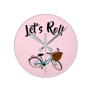 Relógio Redondo A bicicleta do vintage… deixou-nos rolar
