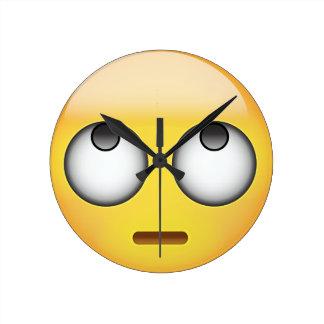 Relógio Redondo A cara com rolamento Eyes Emoji