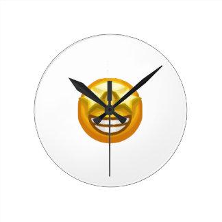 Relógio Redondo a estrela eyes o emoji