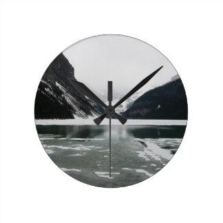 Relógio Redondo A extremidade do inverno, Lake Louise