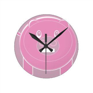 Relógio Redondo A forma fez o porco