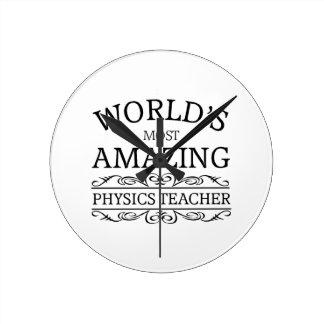 Relógio Redondo A maioria de professor surpreendente da física