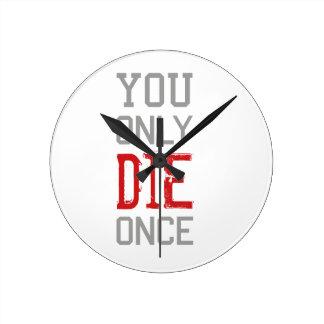 Relógio Redondo A morte chega a todos gráfico